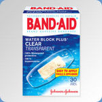Band-Aid Clear Water Block Plus Bandages