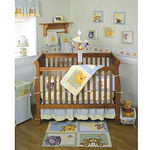 Kidsline Soft & Fuzzy Pooh 4-Piece Crib Bedding Set