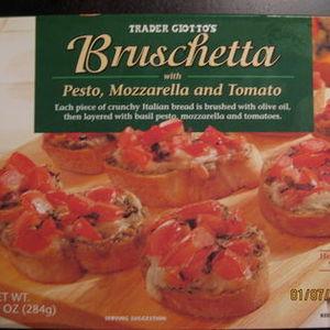 Trader Giotto's Bruschetta with Pesto, Mozzarella and Tomato