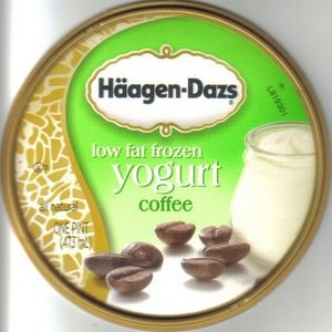 Haagen Dazs Coffee Lowfat Frozen Yogurt