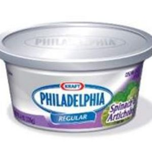 Kraft Philadelphia Spinach & Artichoke Cream Cheese Spread