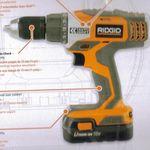 Ridgid 18 Volt Lithium Ion Auto Shift Cordless Drill