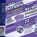 Hero Scent Stripes Kitchen Trash Bags