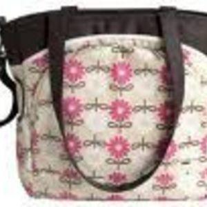 JJ Cole Pink Daisy Mode Tote Diaper Bag