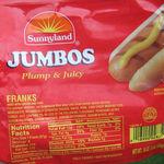 Sunnyland Franks (hot dogs)