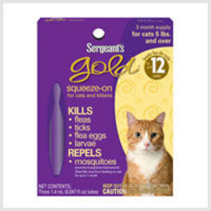 Sergeant's Gold Squeeze-On for Cats and Kittens (Flea Treatment)