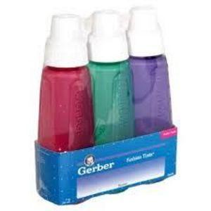Gerber Fashion Tints Plastic Nurser Baby Bottle