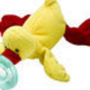 WubbaNub Yellow Duck Infant Pacifier