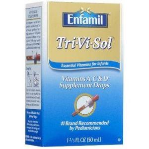 Enfamil Tri-Vi-Sol Vitamins A, C & D Supplement Drops ...