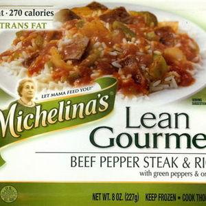 Michelina's Lean Gourmet Beef Pepper Steak & Rice