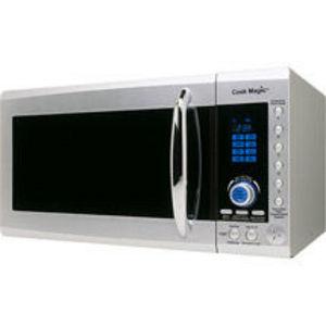 Cook Magic 900 Watt 0.9 Cubic Feet Talking Microwave Oven
