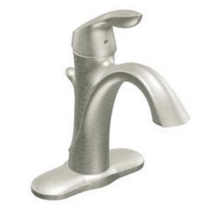 Moen Eva Brushed Nickel One-Handle High Arc Bathroom Faucet