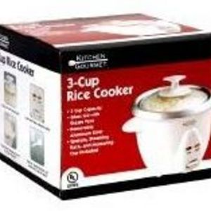Kitchen Gourmet 3-Cup Rice Cooker (RC-3)