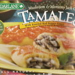 Cedar Lane Mushroom & Monterey Jack Cheese Tamales with rosted red pepper sauce