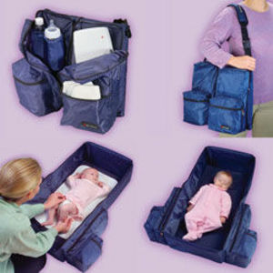 Dex 3-in-1 Travel Genie, Diaper Bag, Changing Station & Port-a-bed