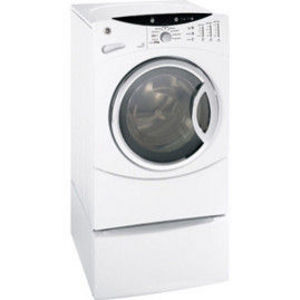 """General Electric GE 13"""" White Washer And Dryer Pedestal With Drawer - SBSD137WH"""