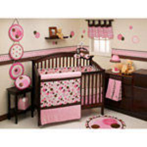 Walmart George Baby Avalon 4-Piece Crib Set, Pink