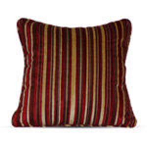 Canopy (Walmart) Chenille Stripe Pillow - Brick Red