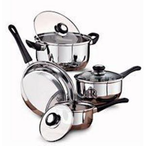 Mainstays 7 Piece Stainless Steel Cookware Set