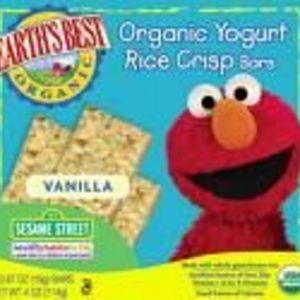 Earth's Best Organic Yogurt Rice Crisp Bars - Vanilla