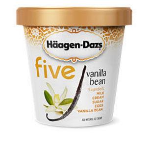 Haagen Dazs Five Vanilla Bean Ice Cream
