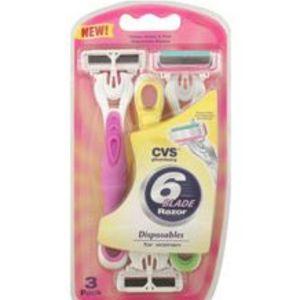 CVS 6 Blade Shaver for Women