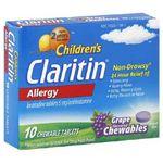 Claritin Children's Grape Chewables Allergy Medicine