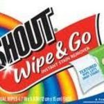Shout Wipes & Go Instant Stain Remover Wipes