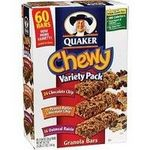 Quaker Chewy Granola bar Sixty Bar Variety Pack