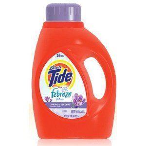 Tide plus Febreze Freshness Liquid Laundry Detergent, Spring & Renewal Scent