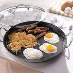 "Princess House Heritage Stainless Steel Nonstick 13"" Round Griddle w/Lid 6309"