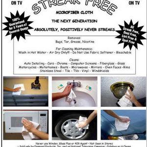 As Seen On TV Streak-Free Cloths