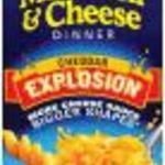 Kraft Macaroni & Cheese Cheddar Explosion