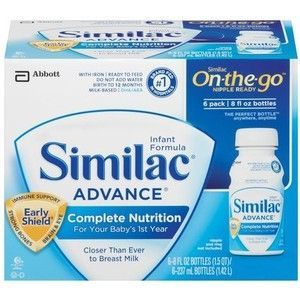 Similac Advance On-the-Go Nipple Ready Bottles