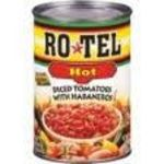Rotel Hot Diced Tomatoes with Habaneros