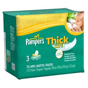Pampers Thick Care Baby Wipes - Scented