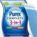 Purex Complete 3-in-1 Laundry Sheets, Tropical Scent