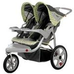 inStep Safari Swivel Wheel Double Jogger