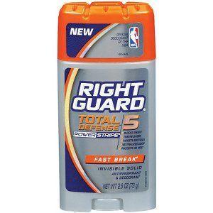 Right Guard Total Defense Power Stripe Antiperspirant & Deodorant, Fast Break