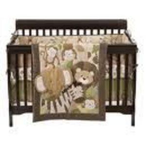 Small Wonders 4-piece Zoomba Safari Crib Bedding Set