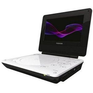 Toshiba - 7-Inch Portable White DVD Player (White)