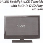 """Viore - 19"""" Viore LED B;acklight LCD Television LED 19VH65D"""