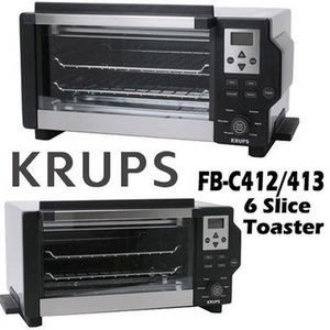 Krups 6 Slice Convection Toaster Oven 1600 Watts Fbc413