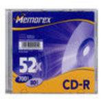 Memorex - CD-R - 700 MB ( 80min) 52x - slim jewel case - storage media (827520C) 52x