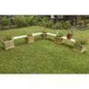 Adirondack Furniture - Old Adirondack Cedar Deck and Patio Planter Group (Old Adirondack)