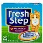 Fresh Step Premium Scoopable Cat Litter for Multiple Cats