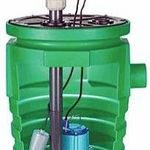 Little Giant N/A Pit+Plus Jr. Simplex System Pre-Assembled Basin and 4/10 HP Sewage Pump Kit with Bolt-On Cover (Little Giant)