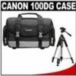 Canon 100DG Digital SLR Camera Case Gadget Bag + Deluxe Tripod for EOS Rebel XT, XTi, XS, XSi, T1i, ...