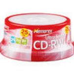 Imation 25PK MEMOREX CDRW 700MB-80MINSPINDLE - 03429 16x CD-RW Media