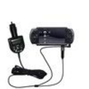 Gomadic 2nd Generation Audio FM Transmitter plus integrated Car Charger (FMT2532G2) for the Sony PSP-3001 Playstation Po...
